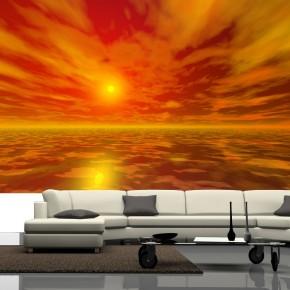Fototapeta pomarańczowe niebo