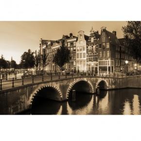 Amsterdam most | Fototapeta powiększająca wnętrze