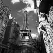 Fototapeta wieża Eiffla w kolorze czarno białym