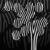 Fototapeta fioletowe drzewo - zmiana koloru na czarno biały