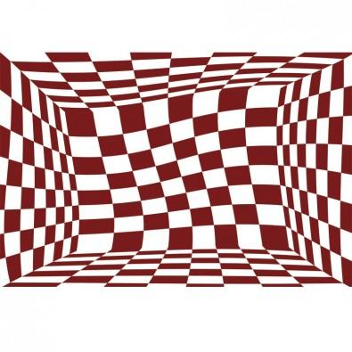 Fototapeta czerwone kwadraty