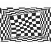 Fototapeta czerwone kwadraty - zmiana koloru na czarno biały