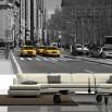 Fototapeta taksówki Nowego Jorku do nowoczesnego salonu