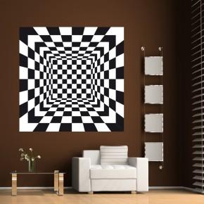 Czarno białe kwadraty | Fototapeta