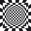 Fototapeta romby w kolorze czarno białym