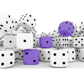 kostki do gry fioletowe