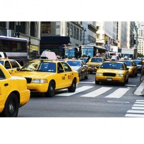 Fototapeta Taxi na ulicach Nowego Jorku