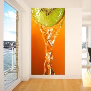 Kiwi w wodzie | Fototapeta do kuchni