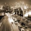 Fototapeta autostrada w kolorze sepii