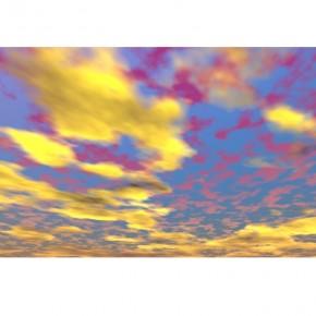 Fototapeta żółto fioletowe chmury