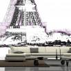Fototapeta wieża Eiffela - grafika