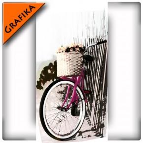 Różowy rower | Fototapeta rower