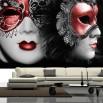Fototapeta maski karnawałowe w aranżacji salonu