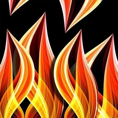 Fototapeta płomienie na ścianę
