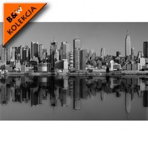 Fototapeta rzeka Hudson czarno biała w Nowym Jorku