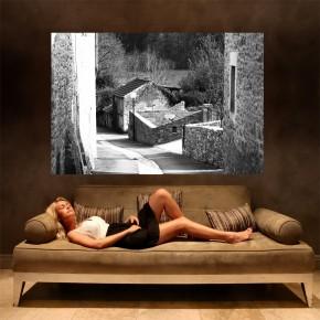 Fototapeta francuska uliczka - czarno biała
