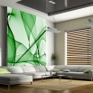 Aranżącja fototapety z motywem zielonych linii