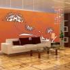 Pomarańczowa dekoracja na ścianę
