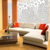 jasna dekoracja na ścianę - fototapeta biała