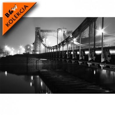 Fototapeta Most Grunwaldzki - czarno biała