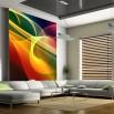 Fototapeta kolorowe pasy- dekoracja nowoczesnego salonu