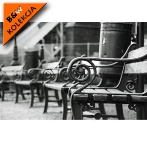 Fototapeta ławka czarno biała