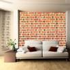 Aranżacja fototapety mur ceglany