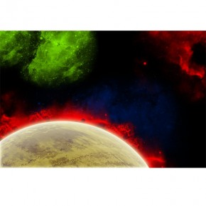 planeta kosmos mgławice