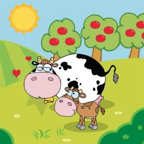 Krowy na wsi