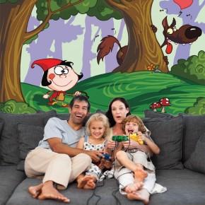 Czerwony kapturek   Fototapeta dla dzieci