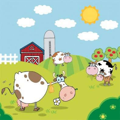 Krowie pogaduchy | Fototapeta dla dzieci