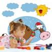 Krowy zimą | Fototapeta dla dzieci