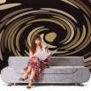 Fototapeta brązowa abstrakcja do salonu