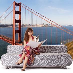 Fototapeta z filarem mostu Golden Gate   fototapety mosty