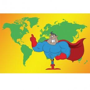 Super Man | Fototapeta dla dzieci