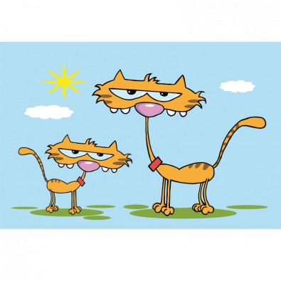Fototapeta kotki dwa