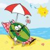 Arbuz na plaży | Fototapeta dla dzieci