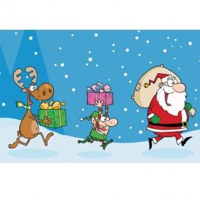Św. Mikołaj i pomocnicy dla dzieci