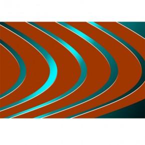 Fototapeta linie orzeszkowe - turkusowy neon
