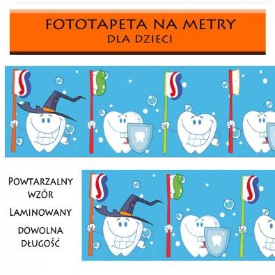 """Fototapeta edukacyjna """"myj zęby"""" - dla dzieci"""
