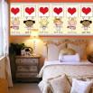 Dekoracja na ścianę za łóżko dziecka