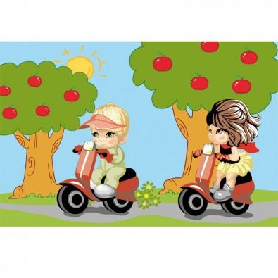 Fototapeta skutery dla dzieci