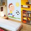 Dekoracja na ścianę z piłką nożną