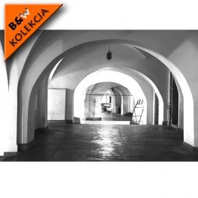 Fototapeta czarno biała z kolumnami