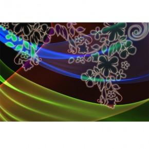 Fototapeta ornament - świetliste kwiatki