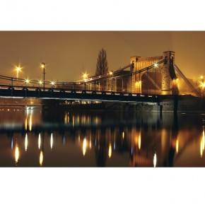 most Grunwaldzki w nocy