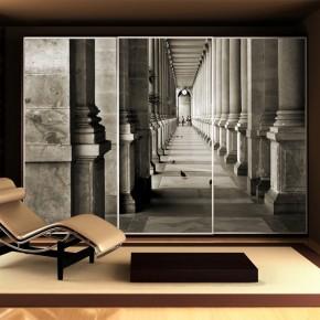 Fototapeta kolumny powiększająca wnętrze