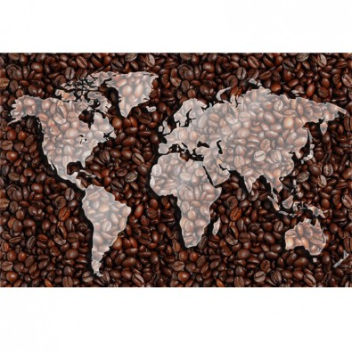Fototapeta kawa kontynenty