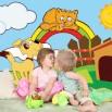 Aranżacja fototapety tęcza w pokoju dziecka