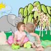 Dekoracja do pokoju dziecka ze zwierzętami
